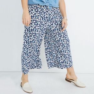 NEW Madewell Huston Pull On Crop Pant French Flora